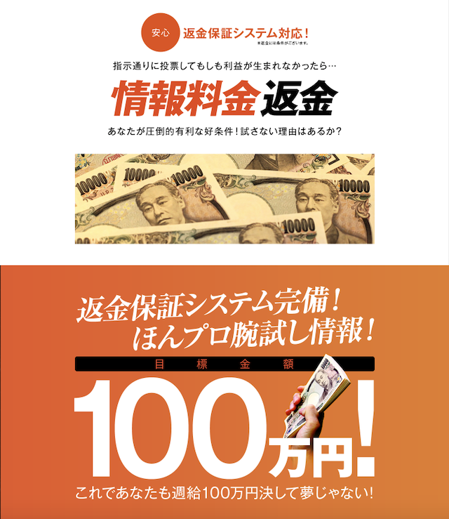 ほんとにあった「週給100万円」を競馬で稼ぐプロ集団会員ページ